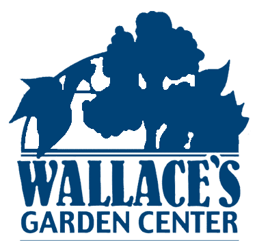 Wallace's Garden Center logo - blue